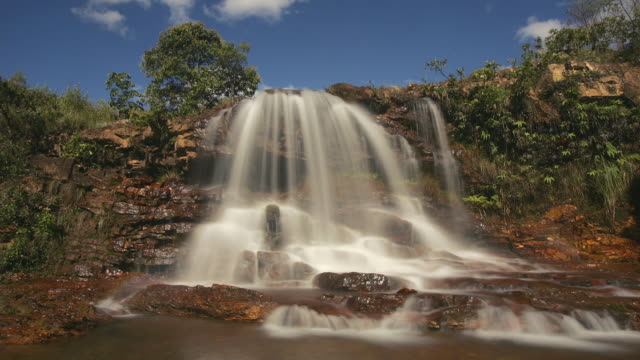 t/l, ms, cachoeira do sal, long exposure, brasil - cachoeira stock videos and b-roll footage