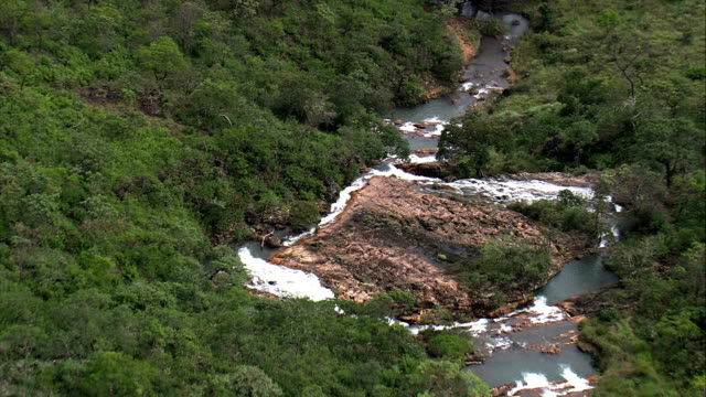 cachoeira instituto teosofico  - aerial view - federal district, brazil - cachoeira stock videos and b-roll footage