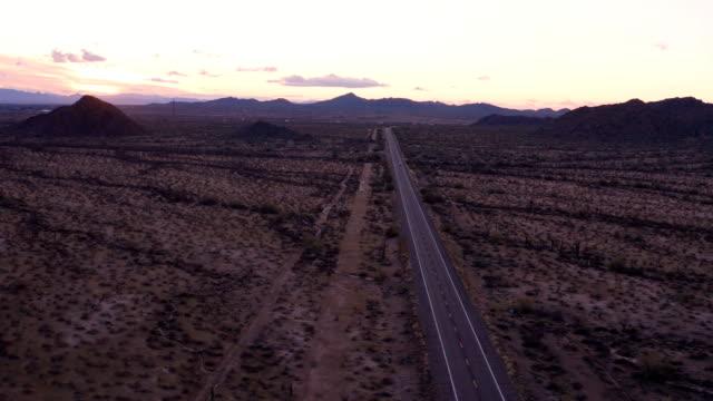 cactus desert, tucson, arizona: remote highway - prickly pear cactus stock videos & royalty-free footage