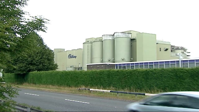 cadbury's chocolate fined for salmonella outbreak; herefordshire: marlbrook: cadbury's chocolate plant - salmonella video stock e b–roll