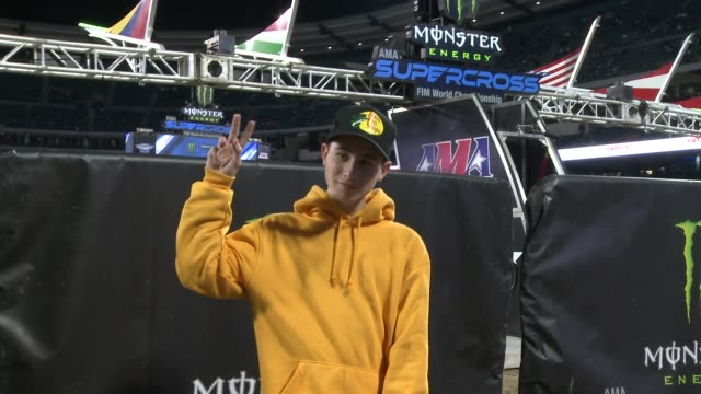 caden conrique at monster energy supercross celebrity night at angel stadium of anaheim on january 19, 2019 in anaheim, california. - angel stadium stock videos & royalty-free footage