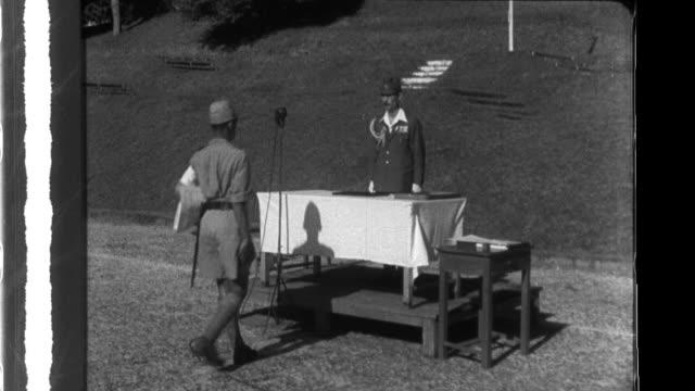 vidéos et rushes de cadets graduate from the shonan military official police school in japan 1940s - guerre du pacifique