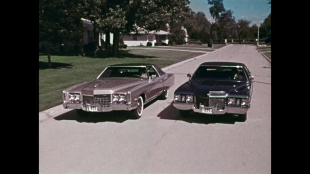 1972 cadillac news film montage - 1971 stock-videos und b-roll-filmmaterial