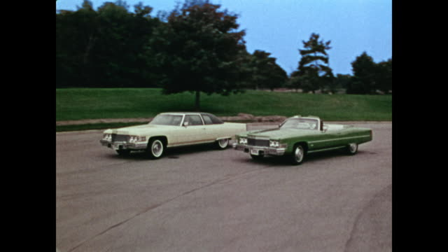 1974 cadillac news film montage - 1973 stock videos & royalty-free footage