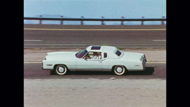 1978 cadillac news film montage - arizona stock videos & royalty-free footage
