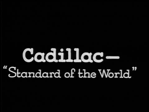 "vidéos et rushes de b/w 1928 slate: ""cadillac-standard of the world"" / industrial - 1928"