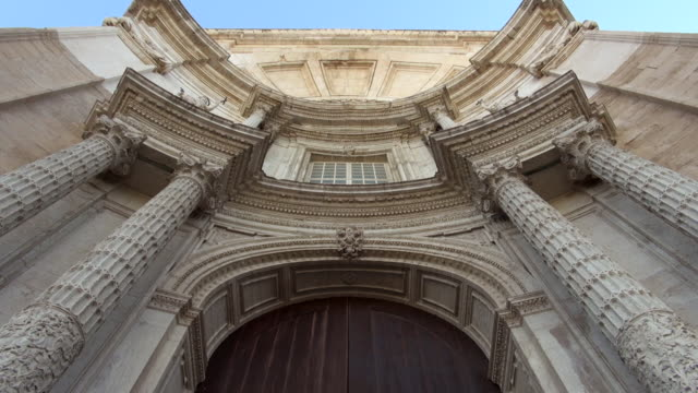 cadiz cathedral fa�ade - looking up - cádiz stock videos and b-roll footage