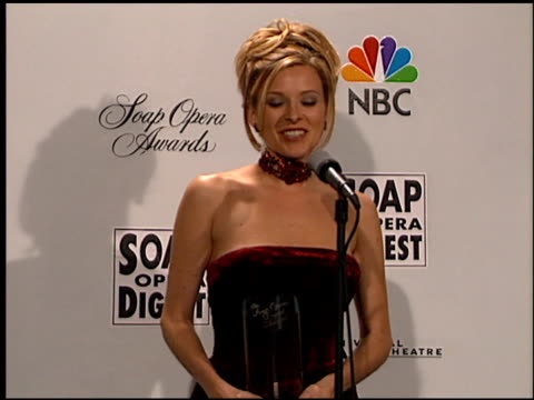 vídeos de stock e filmes b-roll de cady mcclain at the soap opera digest awards entrances and press room at universal studios in universal city, california on february 26, 1999. - universal city