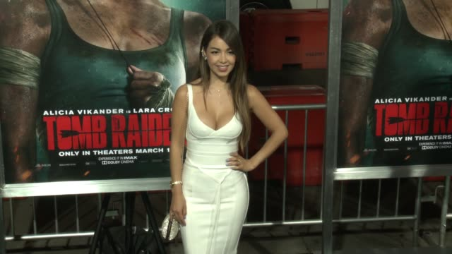 Caeli at the 'Tomb Raider' Premiere at TCL Chinese Theatre on March 12 2018 in Hollywood California