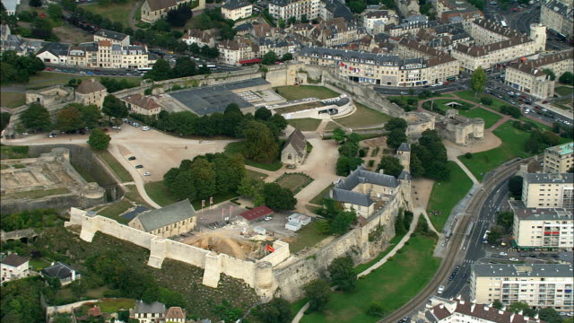 caen  - aerial view - lower normandy, calvados, arrondissement de caen, france - normandy stock videos and b-roll footage