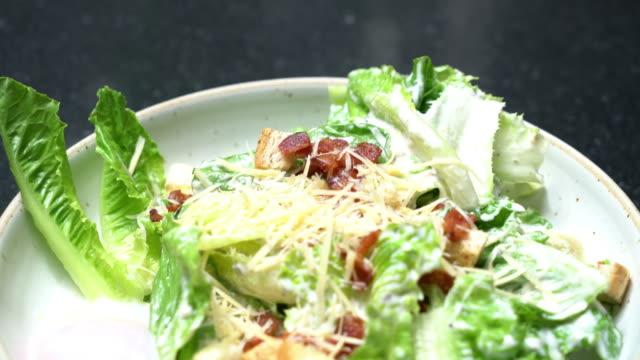 caesar salad with onsen egg