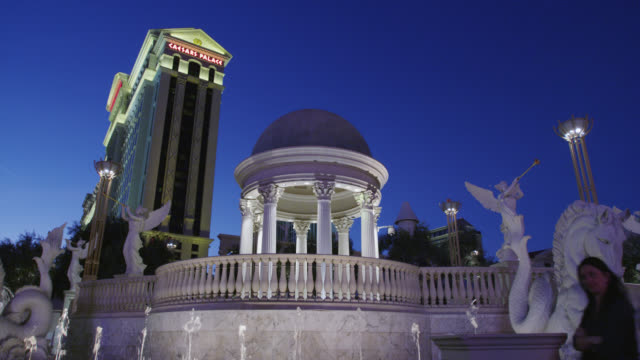 caesars palace hotel - caesars palace las vegas stock videos and b-roll footage