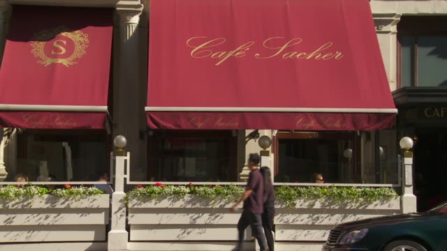 cafã© sacher in vienna - western script stock videos & royalty-free footage