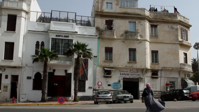 a cafe and street in casablanca - old town stock videos & royalty-free footage