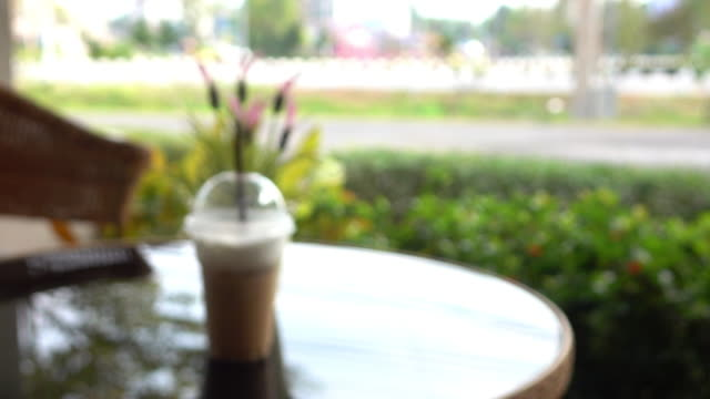 cafe coffee, blur shot