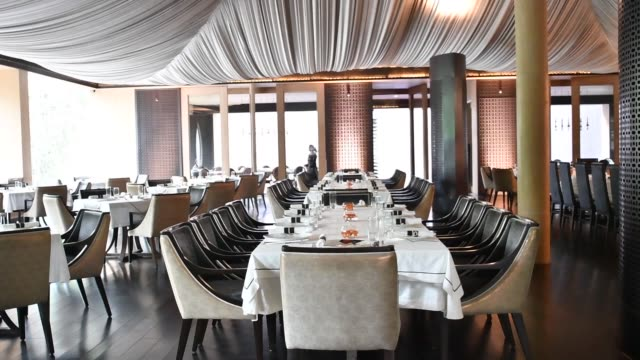 A cafe formerly operating as the Iah Bar is seen at the Roseate New Delhi hotel operated by the Bird Group in New Delhi India on Saturday Aug 19 A...
