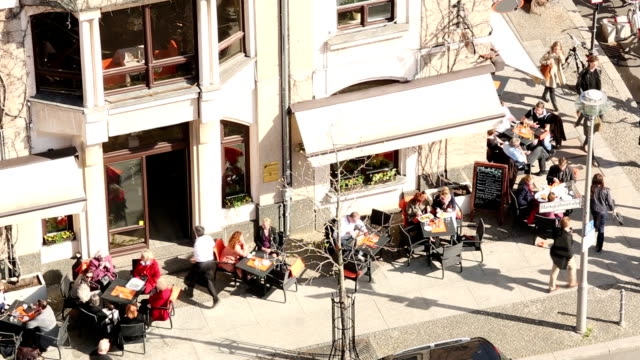 cafe in berlin, time lapse - new york university stock videos & royalty-free footage