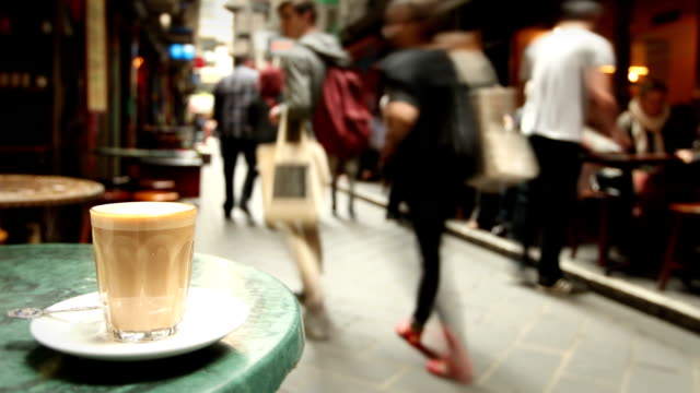 cafe in melbourne, australia - drinking stock videos & royalty-free footage