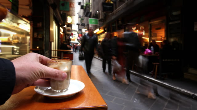 cafe in melbourne, australia - victoria australia stock videos & royalty-free footage