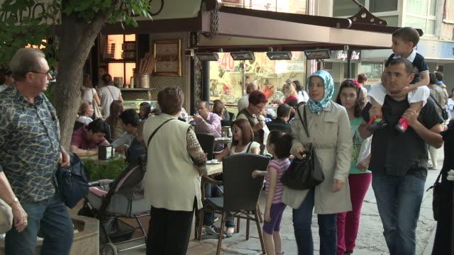 cafe life in ankara, turkey - ankara stock videos and b-roll footage