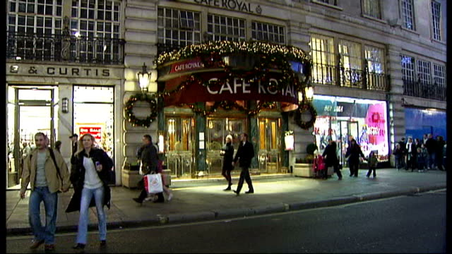 cafe royal converted into hotel t22120817 london piccadilly entrance to the cafe royal as people along - cafe royal stock videos and b-roll footage