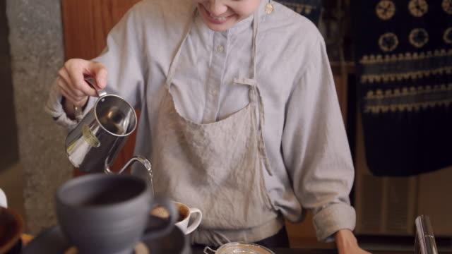 cafe - japan video stock e b–roll