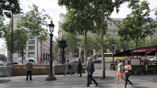 Cafes on Avenue des Champs Elysees, Paris, France, Europe