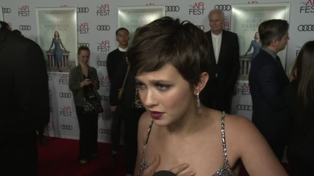 """cailee spaeny on the legacy of ruth bader ginsburg at the """"on the basis of sex"""" opening night world premiere gala screening presented by focus... - participant stock videos & royalty-free footage"""