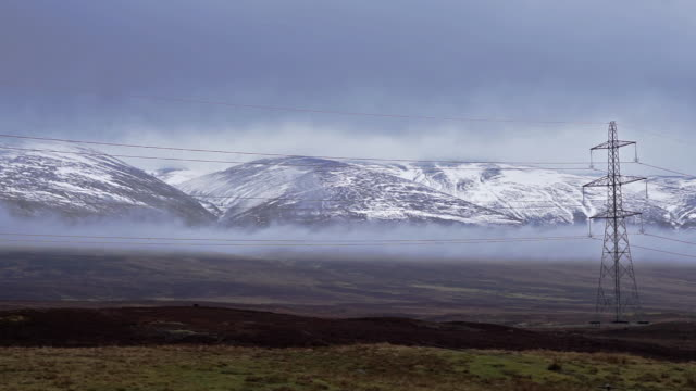 cairngorm mountain national park scotland with snow - steep stock videos & royalty-free footage