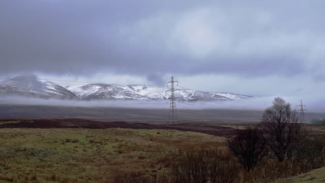 cairngorm mountains national park covered in snow, dalwhinnie, scotland, uk - perthshire stock videos & royalty-free footage