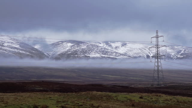 cairngorm national park scotland covered in snow - perthshire stock videos & royalty-free footage