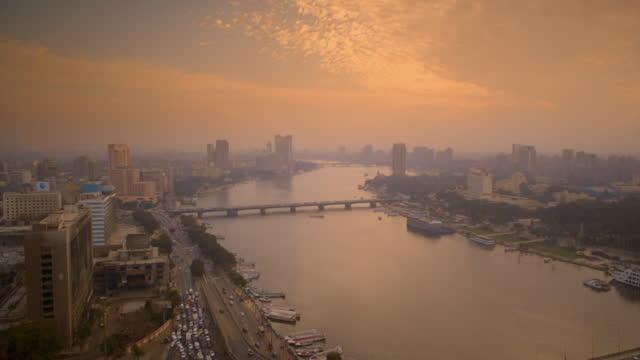 vídeos y material grabado en eventos de stock de cairo skyline at sunset, egypt - puente