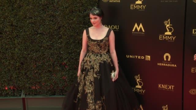 Cait Fairbanks at the 2018 Daytime Emmy Awards at Pasadena Civic Auditorium on April 29 2018 in Pasadena California