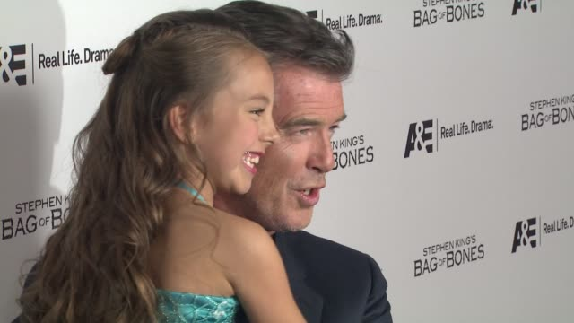 Caitlin Carmichael Pierce Brosnan at Premiere Party For AE's Original Miniseries Bag Of Bones on 12/8/11 in West Hollywood CA