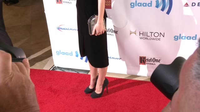 caitlin stasey at the 25th annual glaad media awards at the beverly hilton hotel on april 12 2014 in beverly hills california - ビバリーヒルトンホテル点の映像素材/bロール