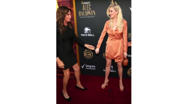 caitlyn jenner and ireland baldwin attend the comedy central roast of alec baldwin at saban theatre on september 07 2019 in beverly hills california - beverly hills california stock videos & royalty-free footage