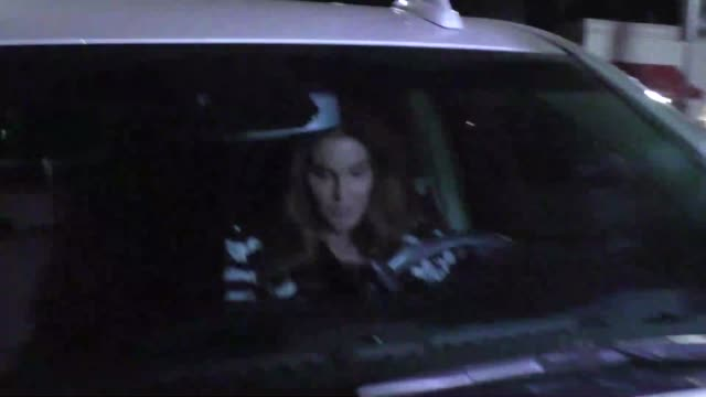 caitlyn jenner & candis cayne leave from a date at fig & olive in west hollywood in celebrity sightings in los angeles, - celebrity sightings stock videos & royalty-free footage