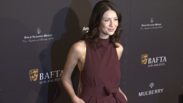 vídeos y material grabado en eventos de stock de caitriona balfe at the 2015 bafta los angeles tea party at the four seasons hotel on january 10 2015 in beverly hills california - acontecimiento