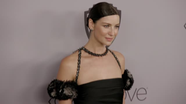 Caitriona Balfe at the Warner Bros Pictures and InStyle Host 19th Annual PostGolden Globes Party at The Beverly Hilton Hotel on January 7 2018 in...