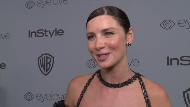 INTERVIEW Caitriona Balfe at the Warner Bros Pictures and InStyle Host 19th Annual PostGolden Globes Party at The Beverly Hilton Hotel on January 7...