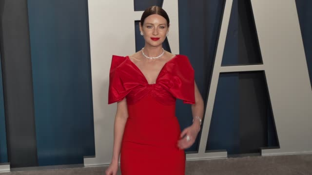 caitriona balfe at vanity fair oscar party at wallis annenberg center for the performing arts on february 09, 2020 in beverly hills, california. - vanity fair oscar party stock videos & royalty-free footage