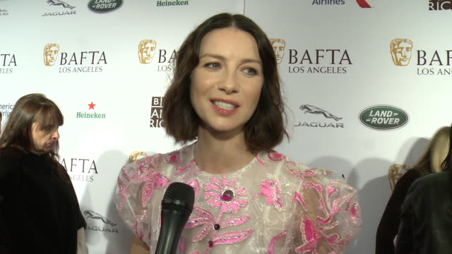 INTERVIEW Caitriona Balfe on the event at BAFTA Tea Party in Los Angeles CA