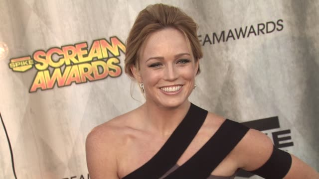 caity lotz at the spike tv's 'scream awards at universal city ca - universal city stock videos & royalty-free footage