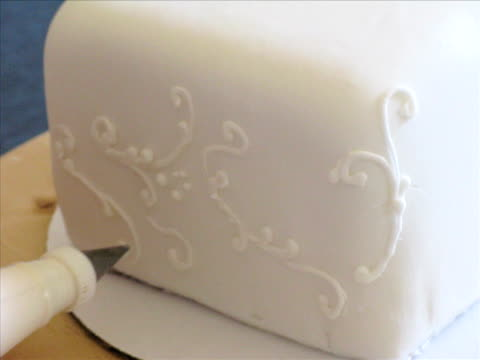cake decorating - icing stock videos and b-roll footage