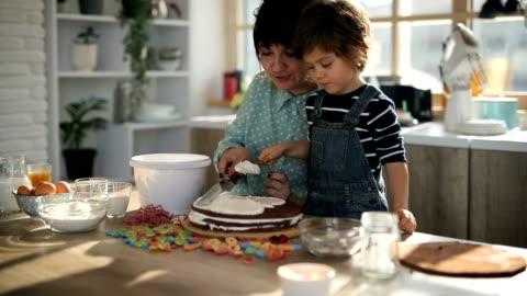 cake decoration - decoration stock videos & royalty-free footage
