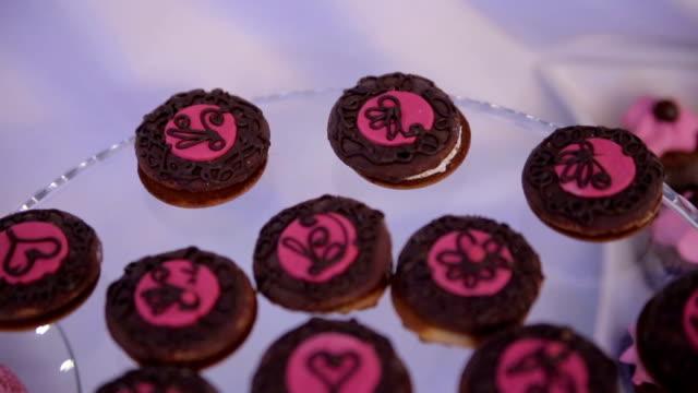 cake decoration - strawberry milkshake stock videos & royalty-free footage