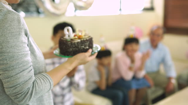 cake for a birthday girl - life events stock videos & royalty-free footage