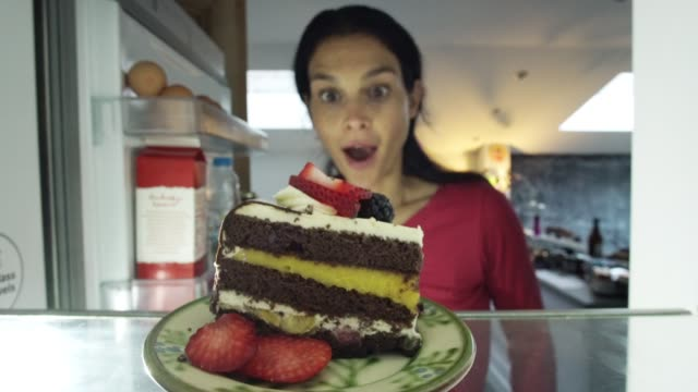 cake in fridge - temptation stock videos & royalty-free footage