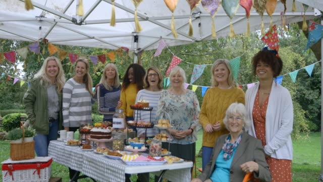 cake ladies - gala stock videos & royalty-free footage