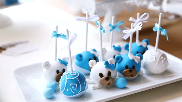 cake pops - candy sticks - popsicle stick stock videos and b-roll footage
